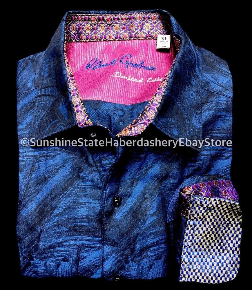 Robert Graham Xl Limited Paisley Embroidered Men S Button Down Luxury Shirt Ebay Luxury Outfits Shirts Paisley