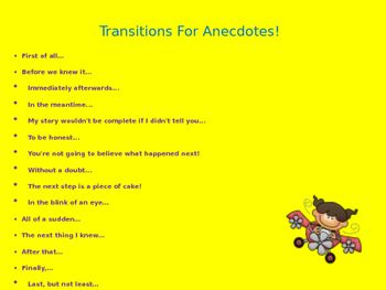using anecdotes in writing