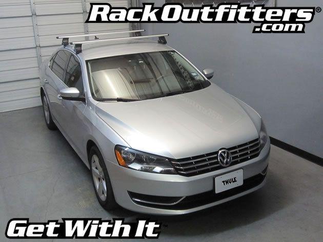 Volkswagen Passat Thule Rapid Traverse Silver Aeroblade Base Roof Rack 12 15 Roof Rack Volkswagen Passat Volkswagen