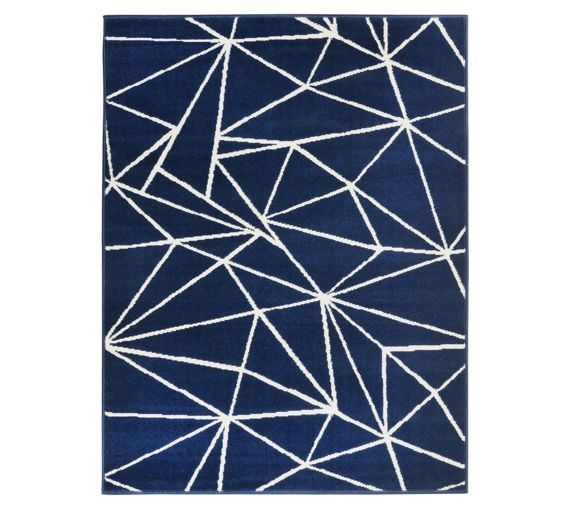 Buy HOME Fractured Lines Rug   120x160cm   Blue at Argos co uk. Buy HOME Fractured Lines Rug   120x160cm   Blue at Argos co uk
