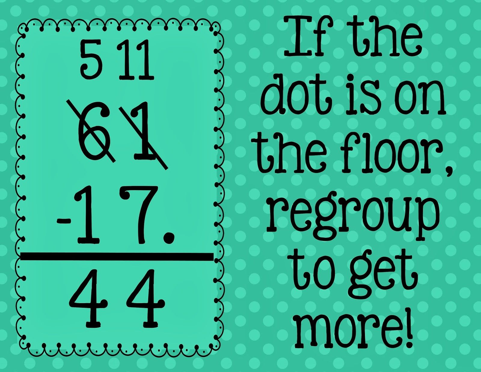2nd Grade Snickerdoodles: Subtraction with Regrouping Tip and ...