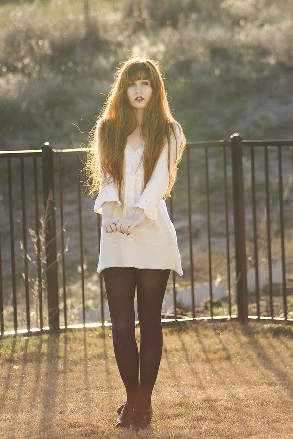 Blunt bangs with waist length hair <3<3<3