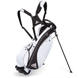 a3004818366b But maybe an Adidas Golf University Stand Bag White Black or dark green and  white would help my game Yes It would.