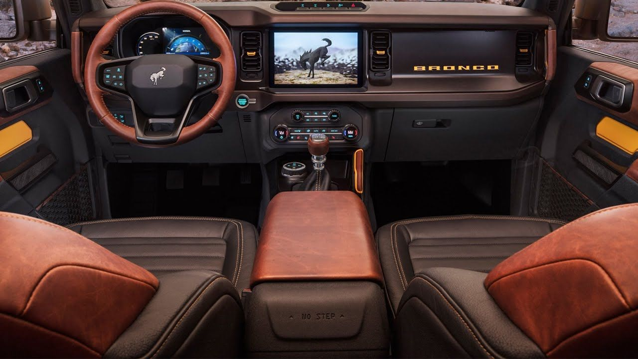 2021 Ford Bronco 2door, 4door and Sport INTERIOR