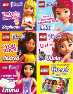 Friends Valentine Cards Lego Friends Birthday Lego Friends Party Friends Valentines