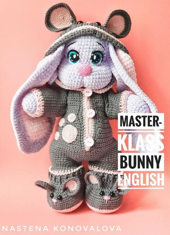 Crochet Pattern Bunny english, Crochet Amigurumi Pattern PDF file