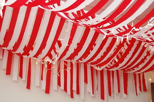 Candy Cane Party Decorations Amazing Streamersplastic Table Cloth From Dollar Storeone Red And One Decorating Design