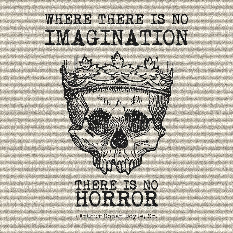Halloween Skeleton Skull Crown Sherlock Holmes Quote Print Digital Download  For Iron Transfer Paper Craft Totes