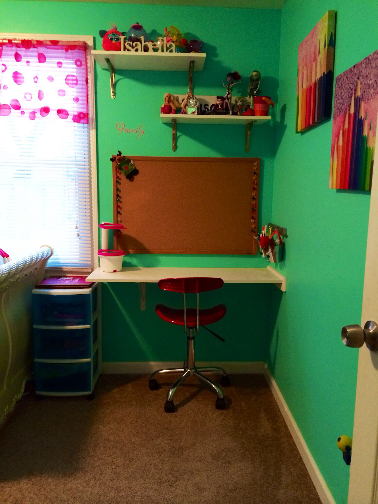 Diy Kids Desk Under $25 Used White Shelf Board From