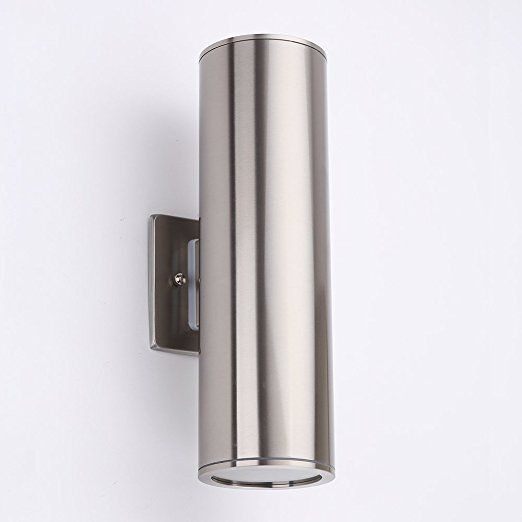Dakyue Waterproof Cylinder Porch Light Outdoor Wall Sconce C Ul Us Listed Stainless Steel I Outdoor Porch Lights Porch Lighting Exterior Wall Light Fixtures