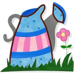 Watering Can Applique - 3 Sizes! | Floral - Flowers | Machine Embroidery Designs | SWAKembroidery.com Abigail Michelle