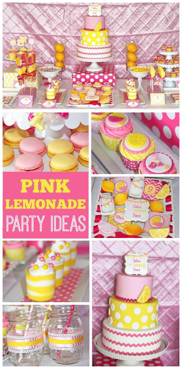 Pink Lemonade Stand Birthday Halles Pink Lemonade Party Party