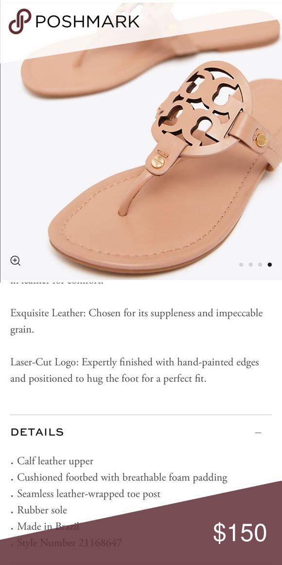 0045f53bfec00f Tory Burch Miller sandals Pre loved reposhed light makeup color flip flops.  T symbol jelly shoes. Tory Burch Shoes Sandals