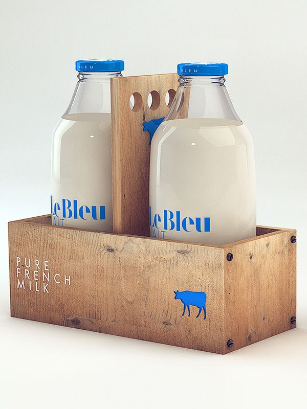 Le Bleu Lait by Isabela Rodrigues, via Behance