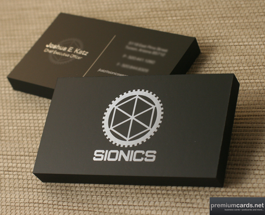 SIONICS | Silk Business Card by PremiumCards.net - Business Cards ...