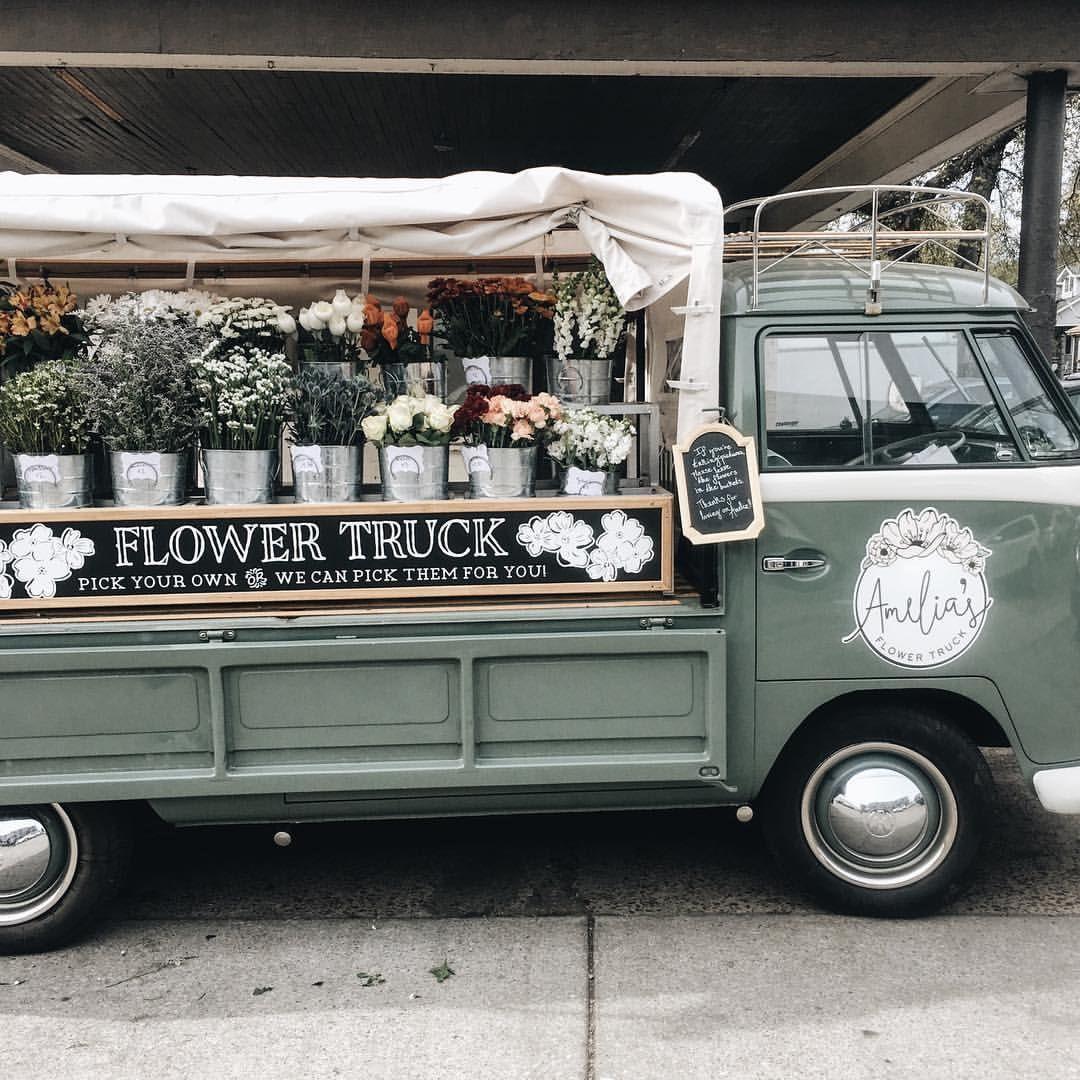 Doesnt get much cuter than a flower truck flower truck