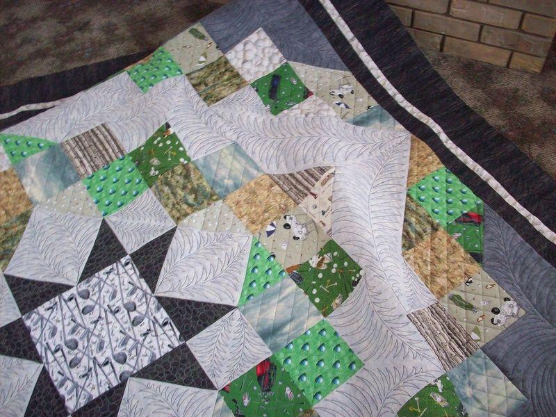 It's a golf quilt. | quilts - machine quilting | Pinterest | Golf ... : golf quilts - Adamdwight.com