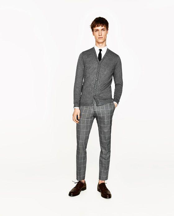 Imagen 2 De Pantalon Traje Cuadros De Zara Pantalon Cuadros Hombre Pantalones De Cuadros Hombre Pantalones De Vestir Hombre