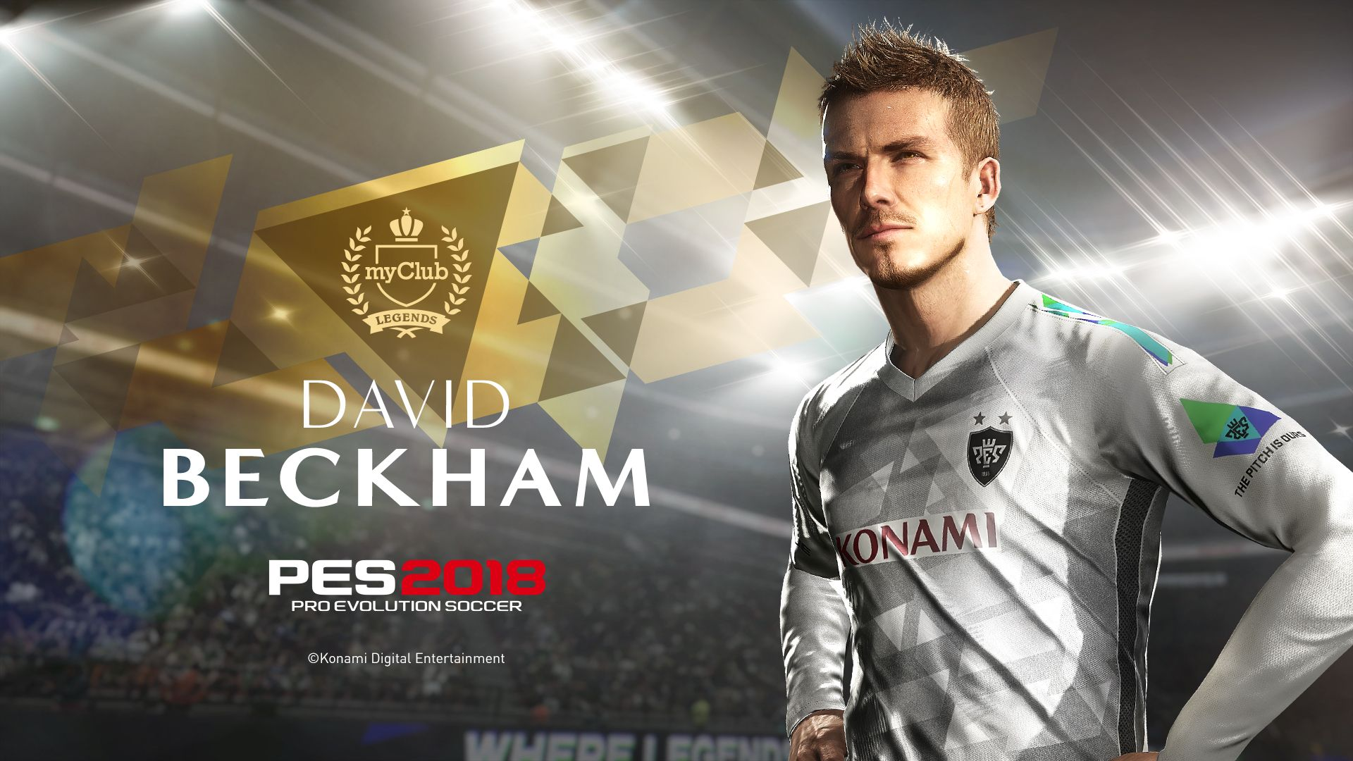 Play as David Beckham in his prime in 'PES 2018' | aslifmgm