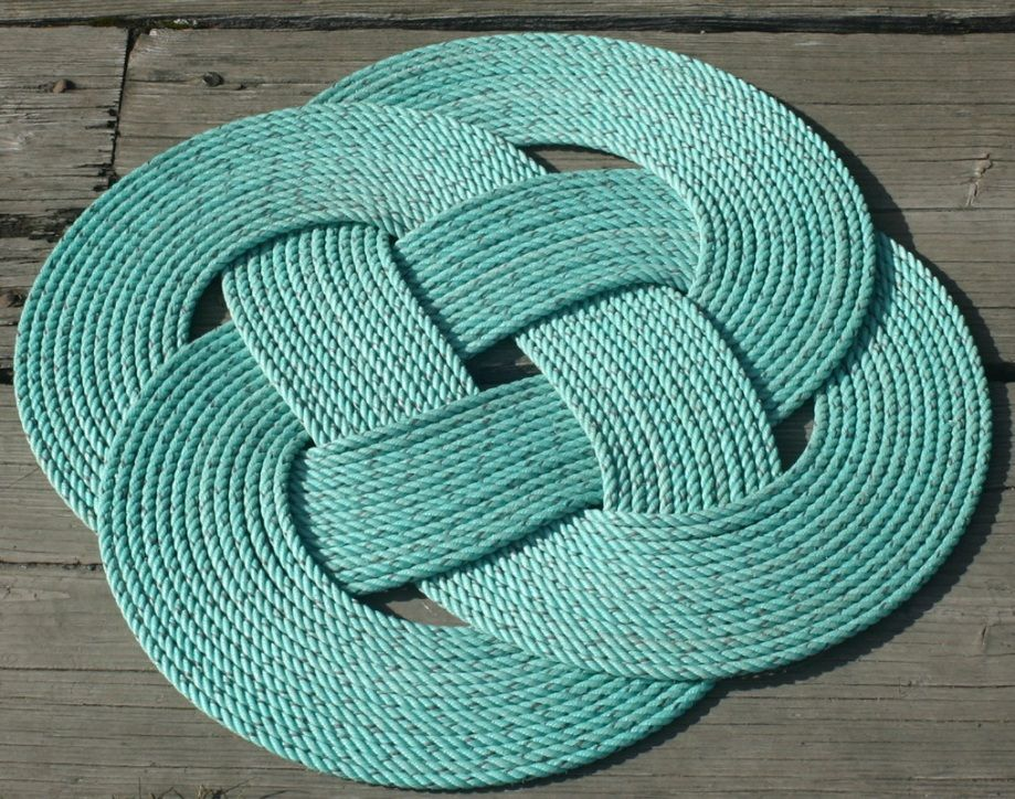 Small Braided Outdoor Patio Rug With