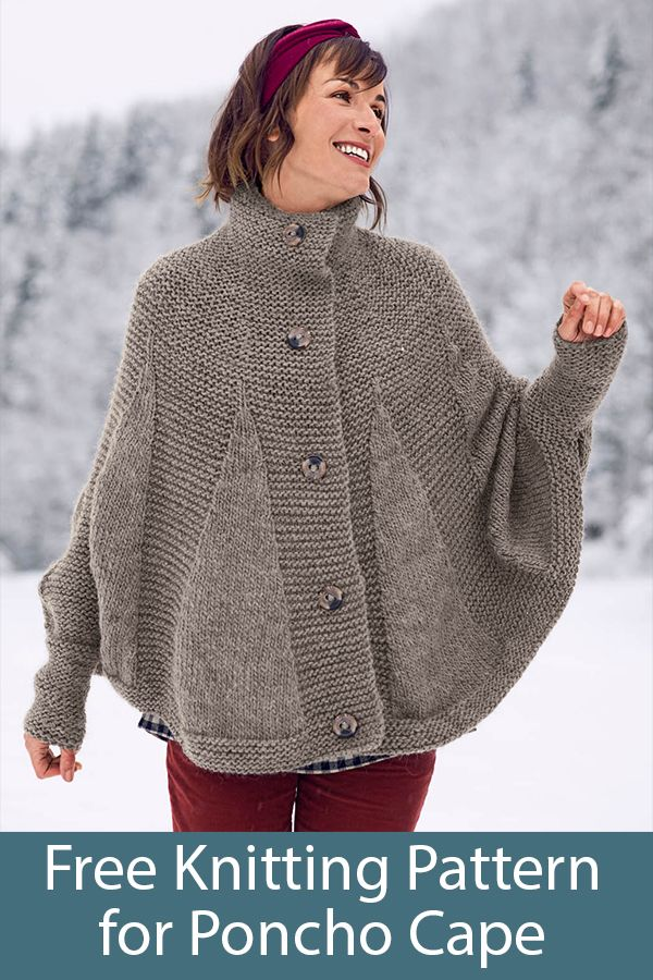 Open Front Poncho Knitting Patterns