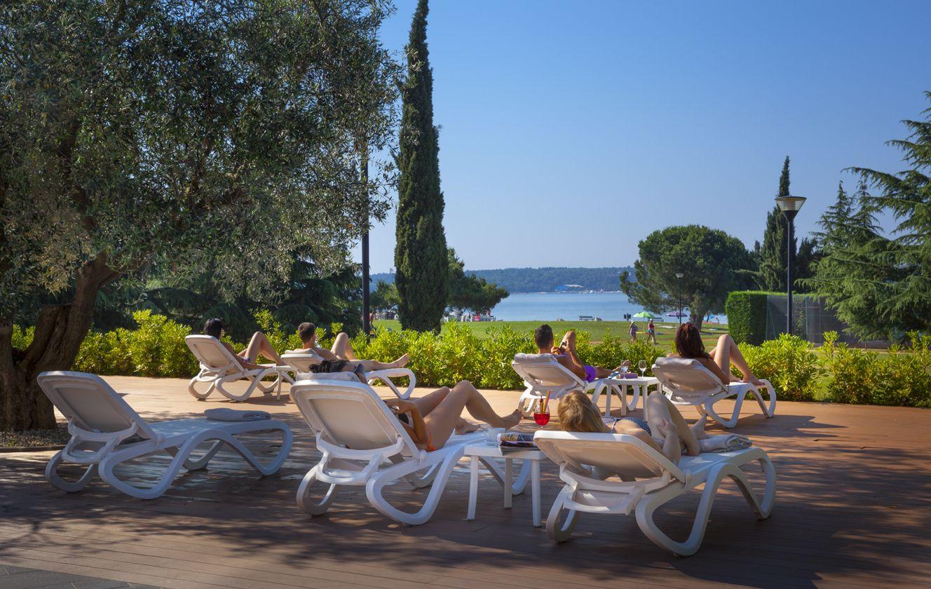The sunbathing area at Hotel Maestral #lagunanovigrad #Novigrad #Istria #Croatia