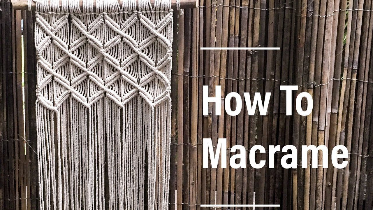 How To Make Macrame Wall Hanging 1 Basic Knots By