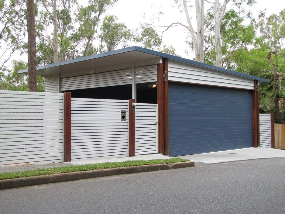 Exceptional New 2 Car Suspended Garage, Fencing, Automatic Panel Door Board Walks And  Store Room