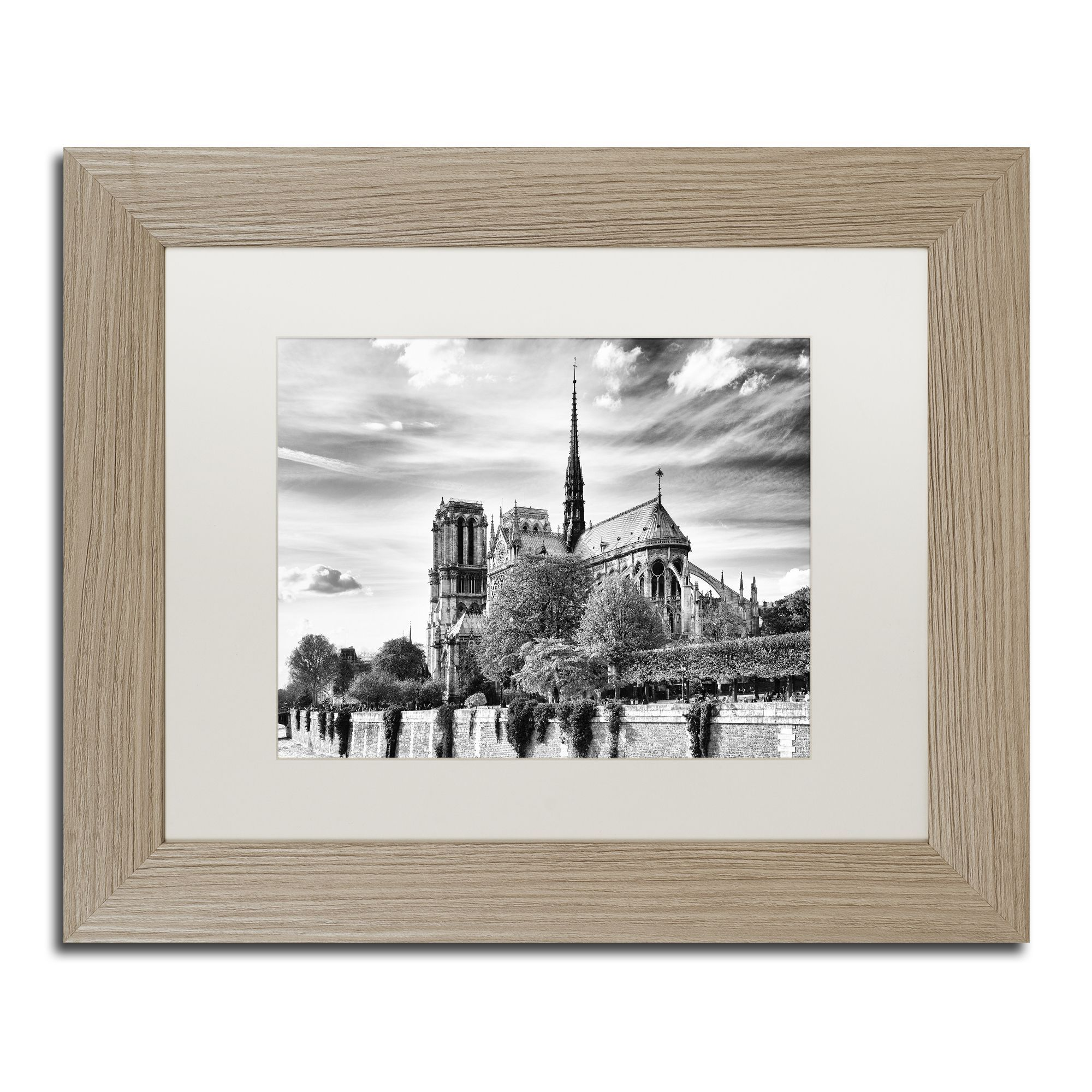 Philippe Hugonnard 'Notre Dame Cathedral Paris' Matted Framed Art