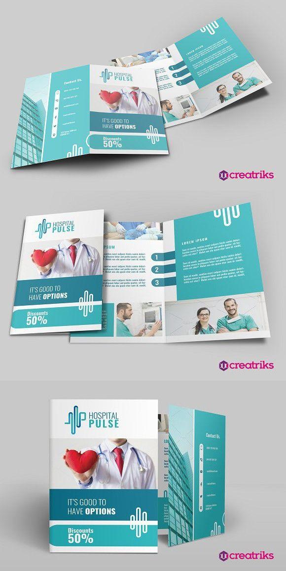Hospital Bi Fold Brochure Brochure Templates Brochure Templates