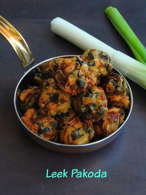 Leek pakodaleek frittersleek medhu pakoda snacks cuisine and leek pakodaleek fritters forumfinder Choice Image