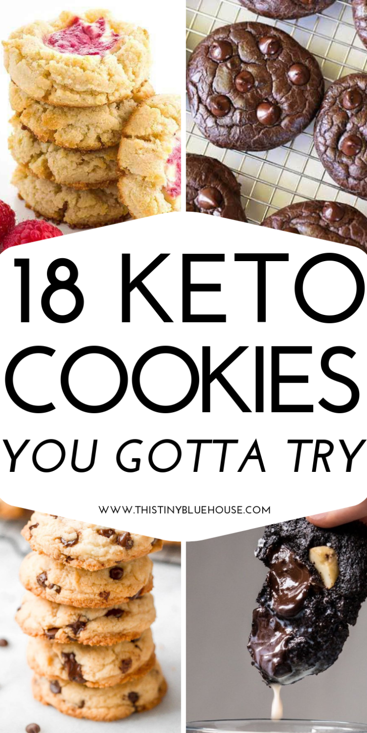 18 Stupidly Easy Low Carb Keto Cookie Recipes - This Tiny Blue House