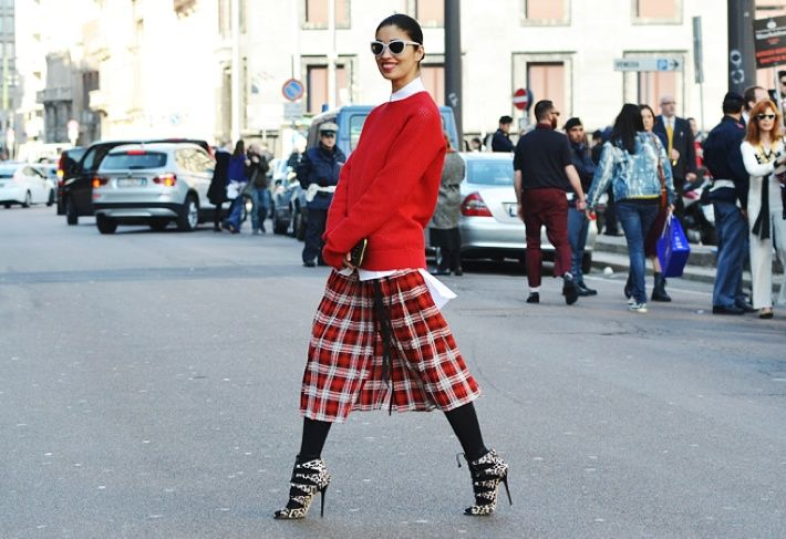 31 Ways to Brave the Cold. #1 add lots of color! #carolineissa #plaid