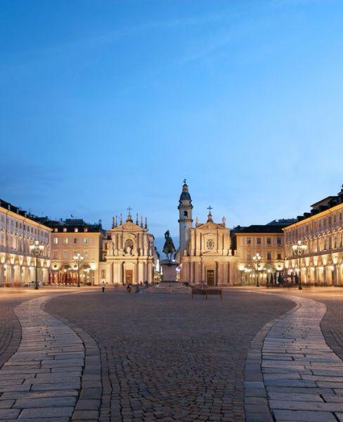 One of Turin's most beautiful spots, Piazza San Carlo.
