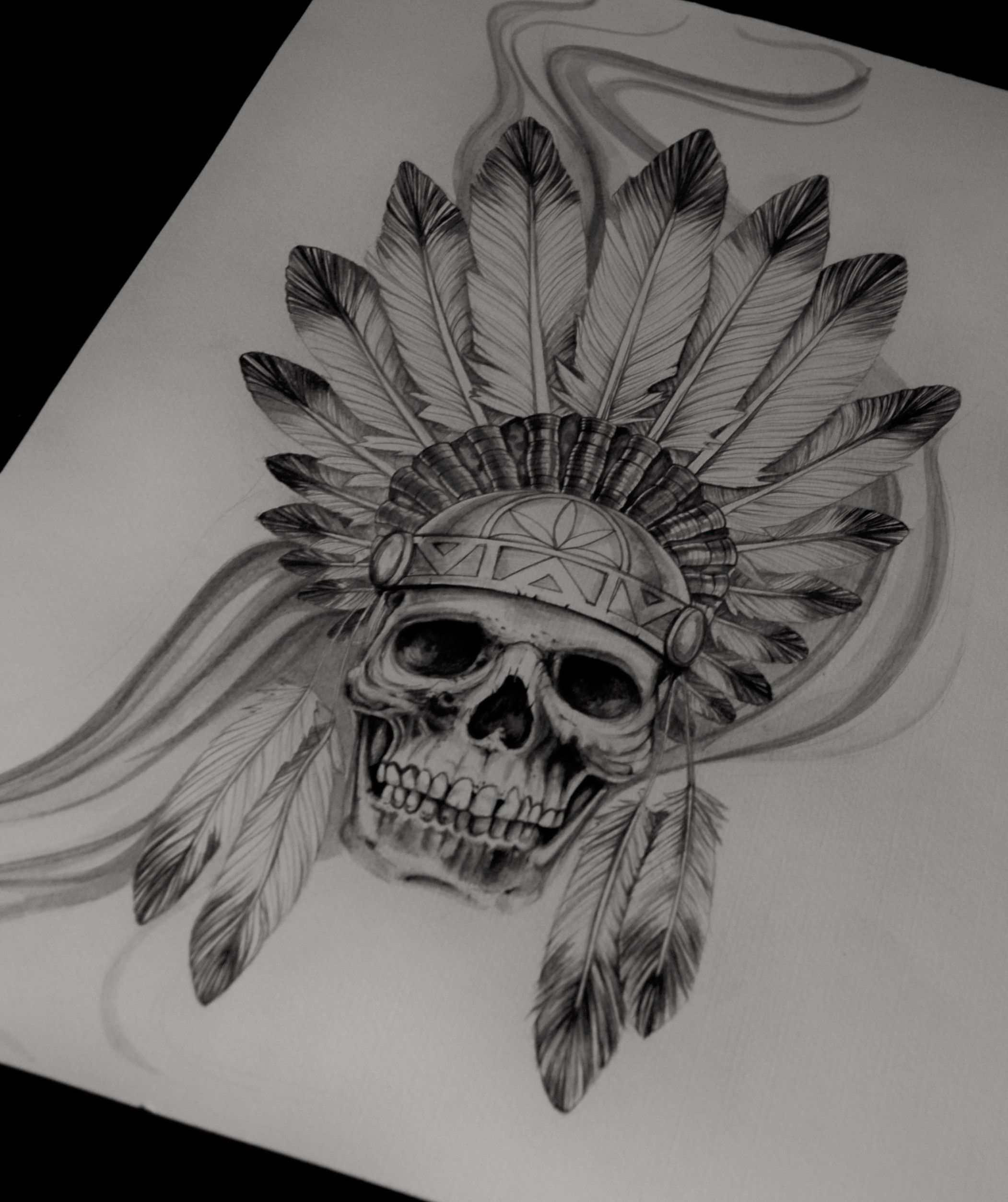 Indian Skull Calavera Calaveras Tatuajes Tatuajes Craneos Y