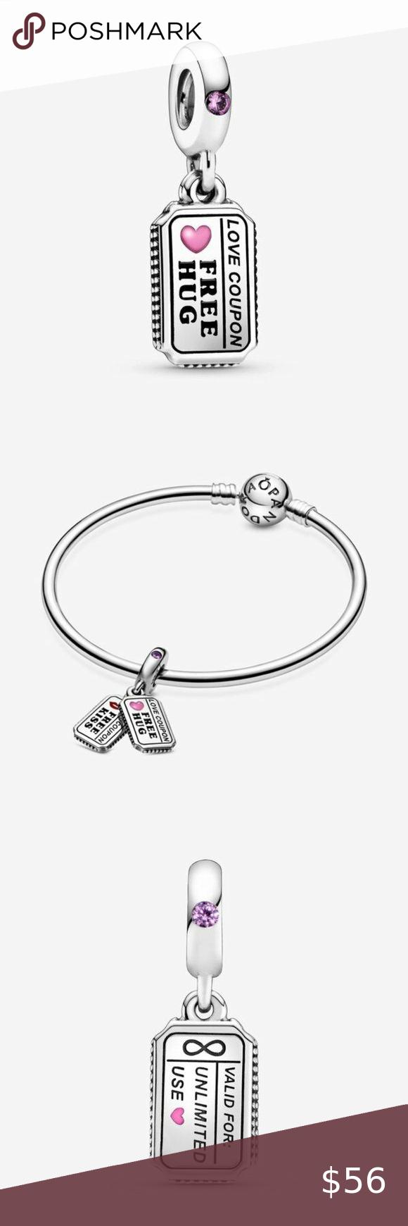 Pandora Love Coupon Dangle Charm In 2020 Love Coupons Dangle Charms Pandora Jewelry Bracelets