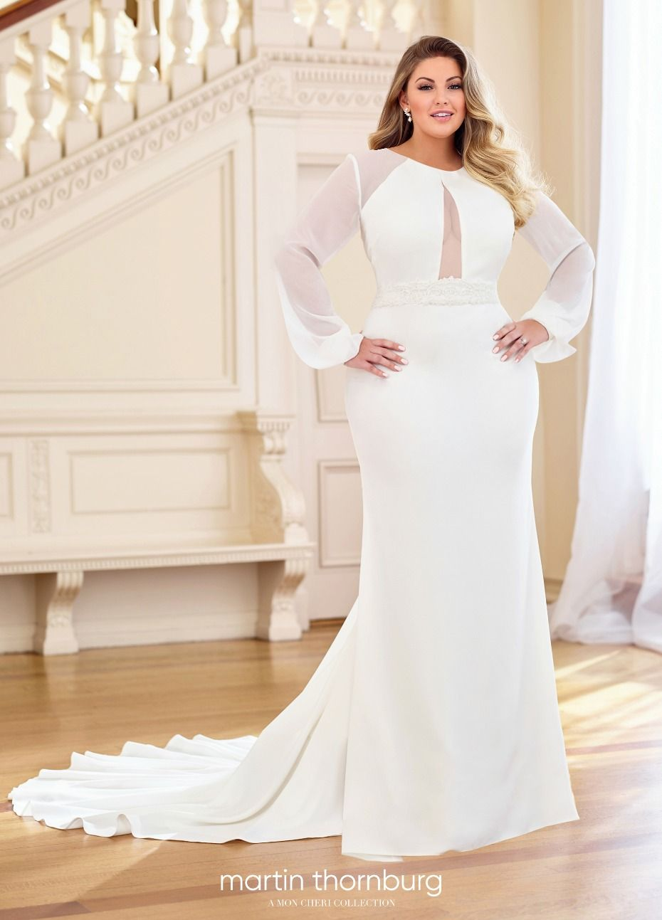 20 Of Our Favorite Gowns For Girls With Curves Plus Wedding Dresses Wedding Dress Long Sleeve Plus Size Wedding Gowns [ 1293 x 930 Pixel ]