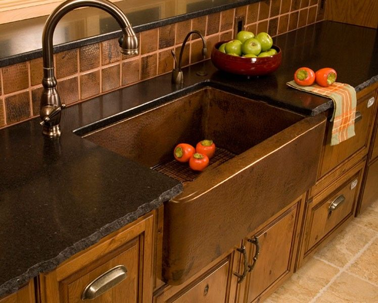 Native Trails Cps   Single Bowl Hammered Copper Farmhouse Kitchen Sink At Bluebath