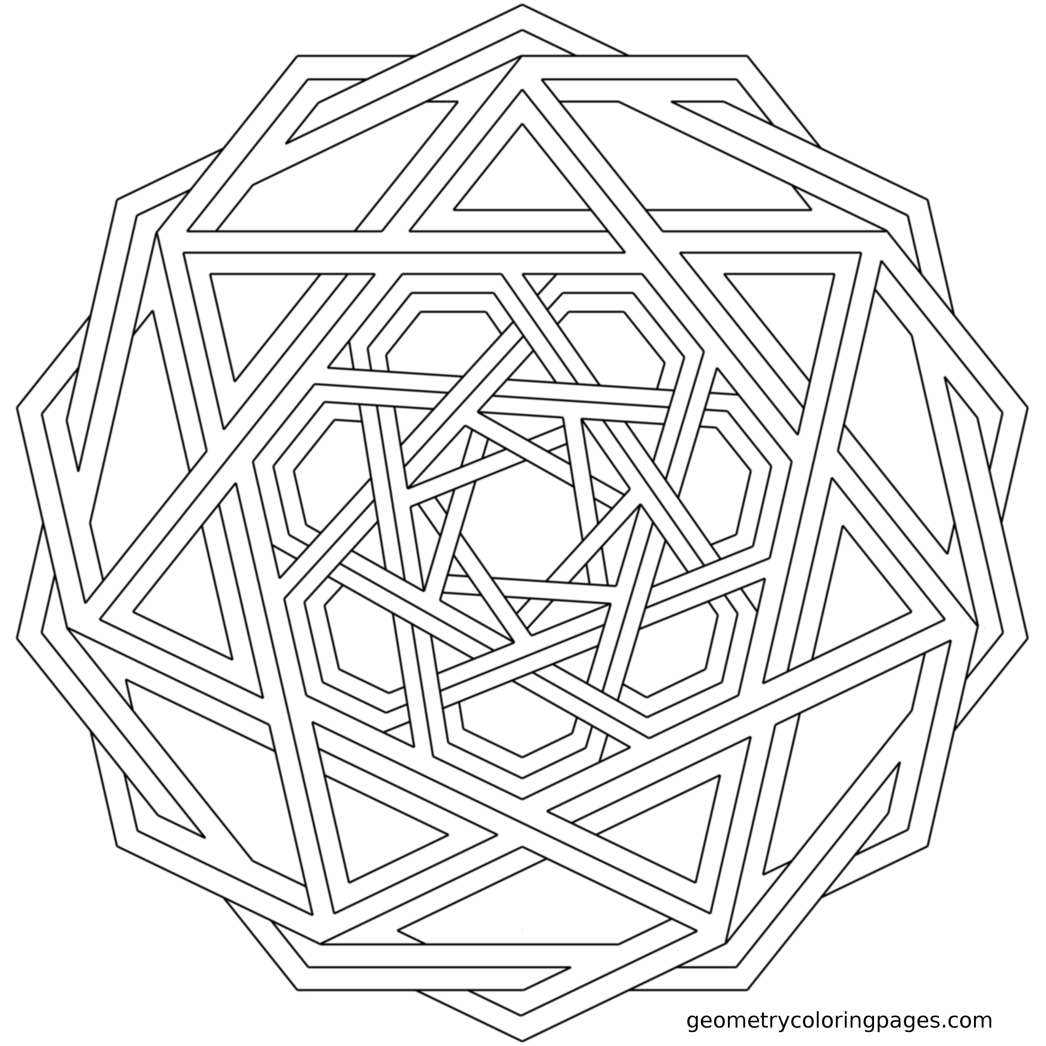 Interweave Mandala Coloring Pages