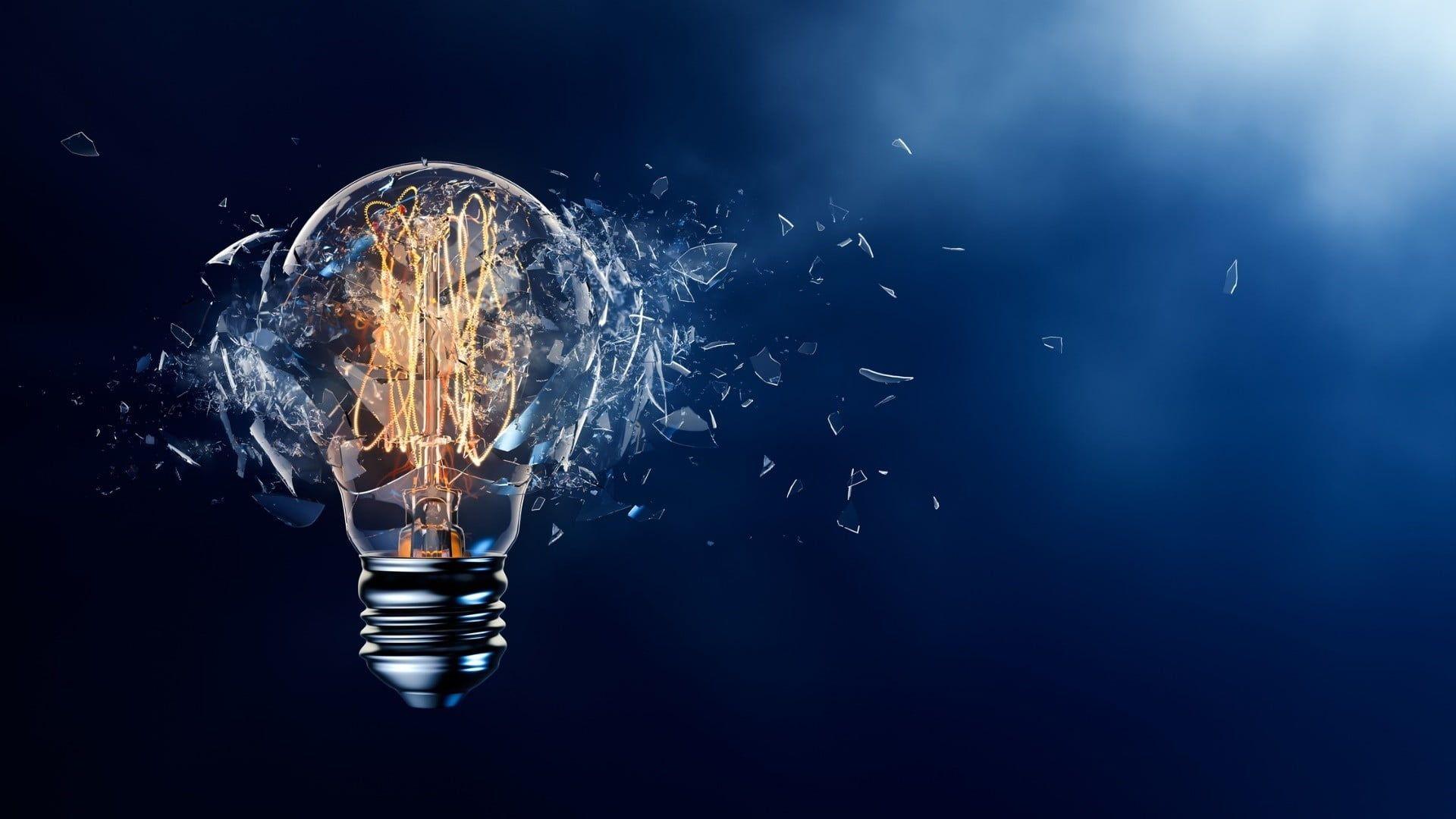 Electric Bulb Illustration Digital Art Lightbulb Broken Glass 1080p Wallpaper Hdwallpap Small Business Solutions Starting A Business Digital Transformation Digital transformation wallpaper hd