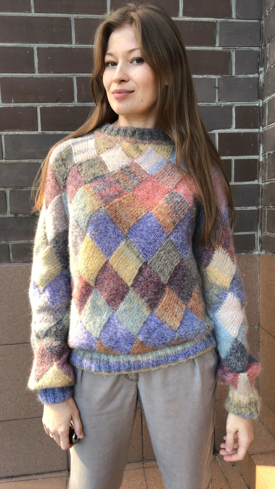Photo of Mohair Entrelac knit sweater