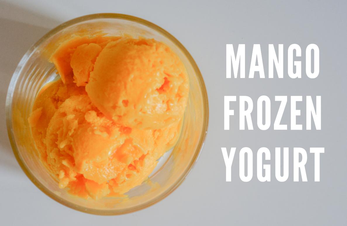 Mango Frozen Yogurt Recipe From The Orange Zest Blog Frozen Yogurt Recipes Mango Frozen Yogurt Recipe Mango Frozen Yogurt