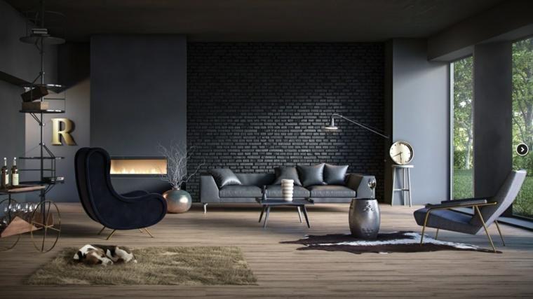 Gemalte schwarze Wände im Wohnzimmer Ideen und Ratschläge Haus