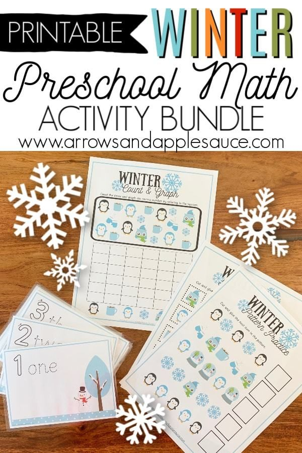 Winter matching game for toddlers/preschoolers promotes