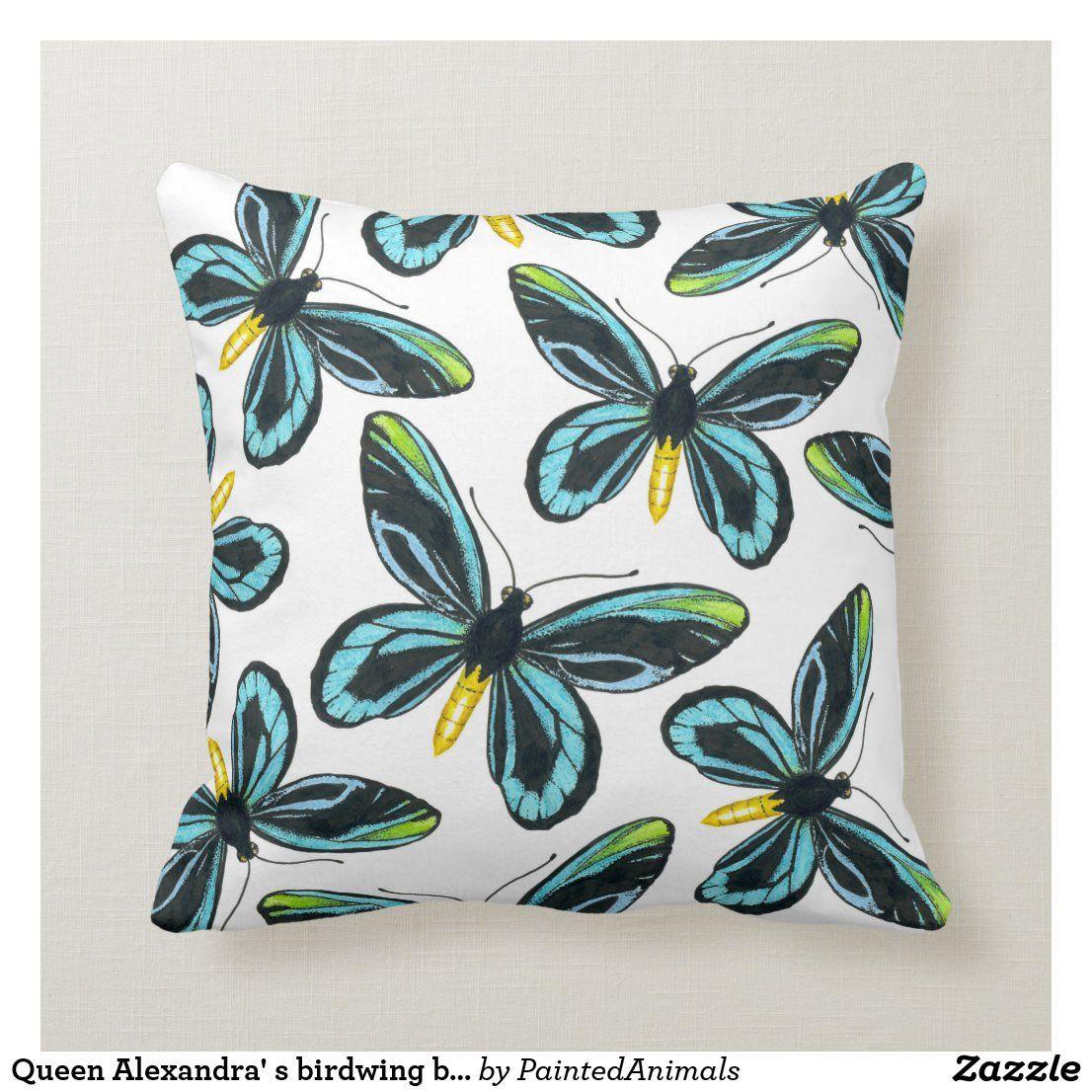 Queen Alexandra S Birdwing Butterfly Pattern Throw Pillow Zazzle Com In 2020 Throw Pillows Patterned Throw Pillows Butterfly Pattern