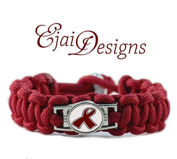 Multiple Myeloma Paracord Charm Bracelet Ribbon