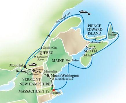 Cruise Tour Of New England Eastern Canada Globus