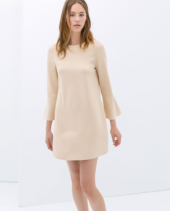 1f17e6f6 Dress with Bell Sleeves. Zara. $99.90   STYLE    Eclectic ...