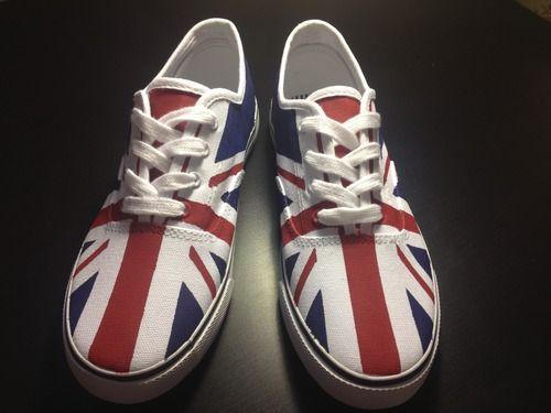 Union Jack | British Flag Shoes (DIY Tutorial) UK Flag/Custom Vans. I love, I love!