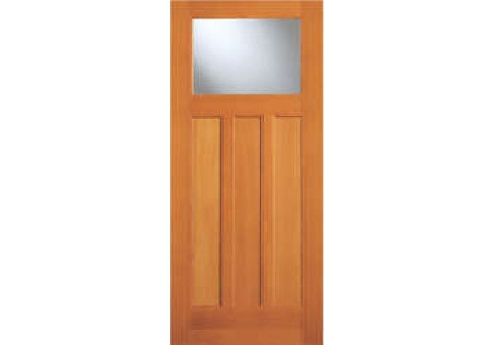 Ab6861 Vertical Grain Douglas Fir Exterior Craftsman 1 Lite With 3 Panel Bottom 1 3 4 Craftsman Front Doors Exterior Front Doors Exterior Doors